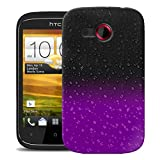 Mobile Case Mate HTC Desire C Case Cover Clear and Purple Raindrop Water drop with Stylus Pen