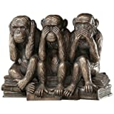 Design Toscano The Hear-No, See-No, Speak-No Evil Monkeys Statue in Faux Bronze