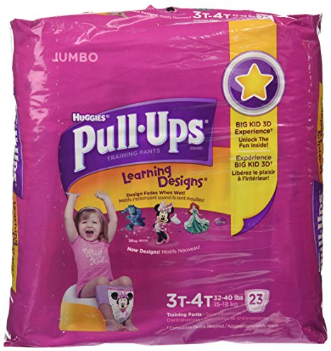 Huggies Pull-Ups Learning Designs Training Pants, Girls, 3T-4T, 23 ct - 1