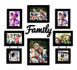 Art street Family wall Photo Frame - Set of 8 photo frame and MDF Plaque