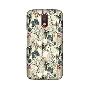 Moto G4 Plus Perfect fit Matte finishing Motif Pattern Mobile Backcover designed by Aaranis (Grey) Perfect fit Matte finishing Vintage Floral Pattern Mobile Backcover designed by Aaranis (Multicolor)