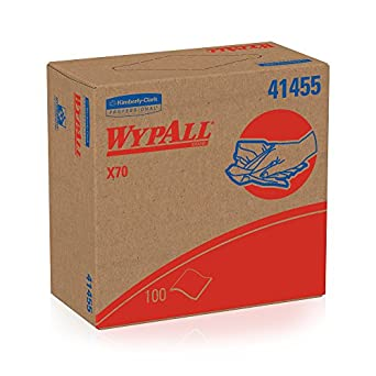 Wypall X70 Reusable Wipes (41455), Extended Use Wipers with HydroKnit, Pop-Up Box, 10 Boxes / Case, 100 Sheets / Box