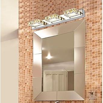 Applique miroir pour salle de bains en m tal et verre for Miroir en longueur