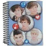 Cahier One Direction à Spirale et Intercalaires Notebook A5 Bubbles