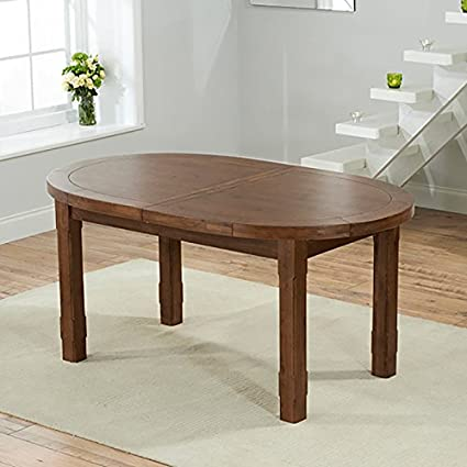 Cheyenne 247cm Oval Extending Table Solid Wood (Oak/Dark Oak Rustic)