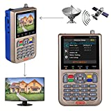GT MEDIA V8 Satellite Finder Signal Meter Upgraded TV DVB-S2/S2X Receiver Sat Detector, HD 1080P Free to Air FTA 3.5