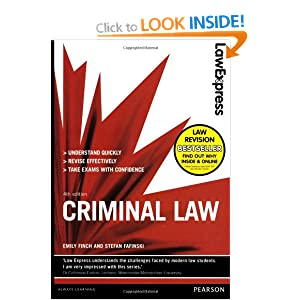 Law Express: Criminal Law (Revision Guide) Emily Finch