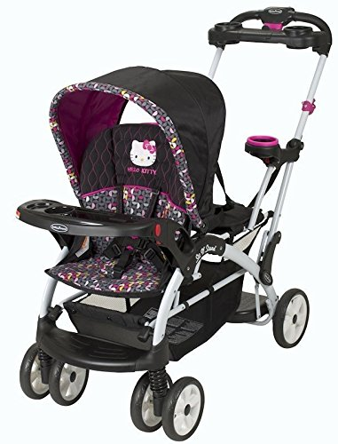 Love Kid Baby Trend Sit N Stand Ultra Hello Kitty Pin Wheel Twin Tandem Stroller New front-3129