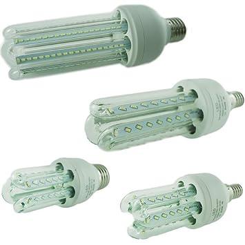 Kit 4 lampadine led attacco e27 7w 70w faretto luce for Kit lampadine led
