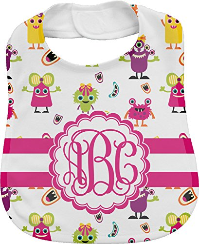 Girly Monsters Personalized Bib