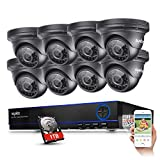 Sannce 8CH 1080P CCTV DVR HD 1920*1080P Security Camera System 8-2.1Megapixel Outdoor IR-Cut Day Night Vision Dome Camera w/ 1TB Hard Drive Pre-installed - Best Reviews Guide