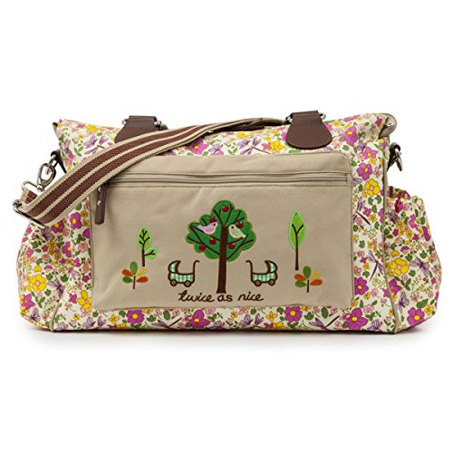 Pink Lining Twins Bag, Cottage Garden