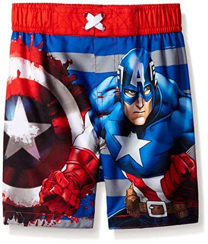 Marvel Boys' Captain America Swim Trunk