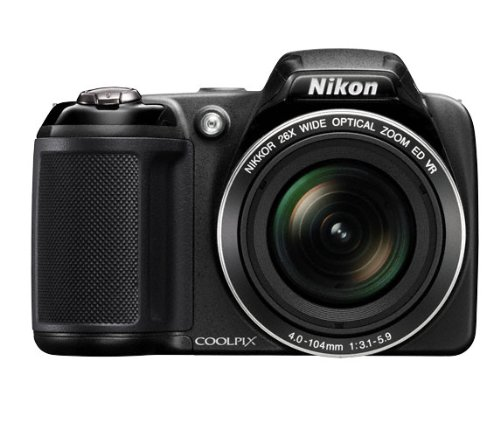 Nikon COOLPIX L320 Compact Digital Camera - Black (16.1MP, 26x Optical Zoom) 3 inch LCD