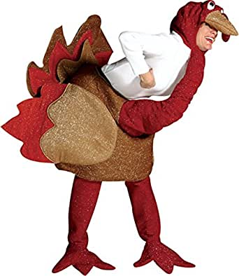 Morris Costumes Turkey Colorful Costume Adult