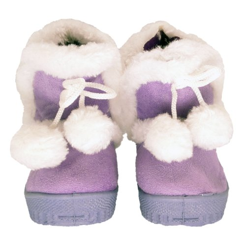 Baby Toddler Faux Shearling Winter Boots Purple , 12