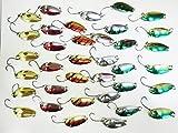 [POWIITEM] メタル スプーン ルアー 3g 釣れる定番カラー6種 [ポイント付き] (12個セット(6色×2))