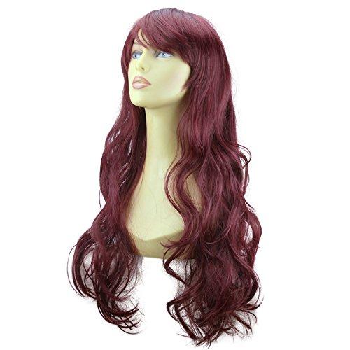 "Elegant Hair - 22"" Ladies Beautiful Full WIG Long Hair Piece WAVY Cheryl Cole Red #99J"