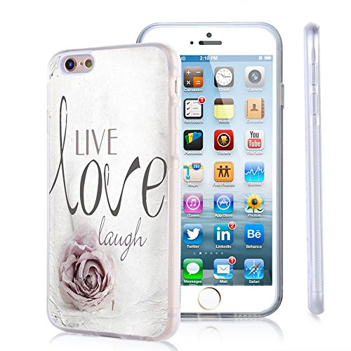 iPhone 6s Plus Case, iPhone 6 Plus Case Viwell TPU Soft Case Rubber Silicone Live Love Laugh