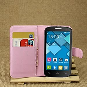 Alcatel One Touch Pop C5 Cases,Dulcii Wallet Lychee PU Leather Wallet