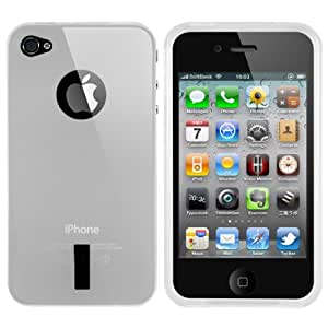 mumbi silicone TPU Coque Apple iPhone 4/4S- Housse skin Étui Case Protecteur Blanc Transparent