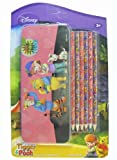 My Friends Tigger and Pooh Tin Pencil Case and 6 Pack Colored Pencil - Winnie the Pooh Pencil Case