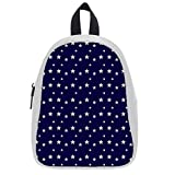 Deep Blue Star Soft PU Backpack School Bag