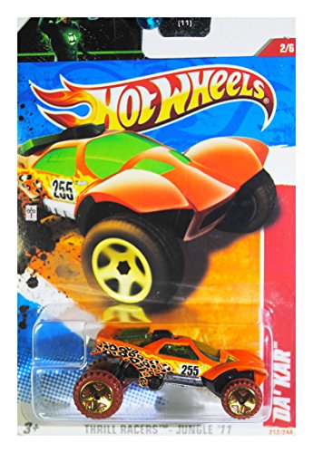 Hot Wheels 2011 Thrill Racers Jungle Da' Kar on Green Lantern Card