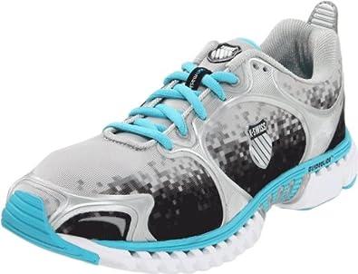 K-Swiss Women's Kwicky Blade Light Track Shoe,Sivler/Black Digital/FiJi Blue,5.5 M US