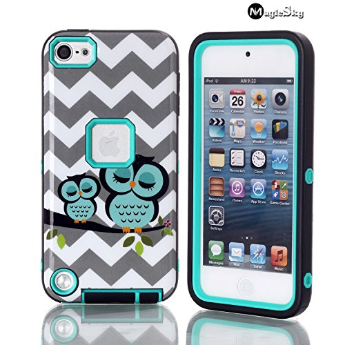 Touch 5 case, iPod Touch 5 case,*No fade/No Peel*, Magicsky Owl Pattern Full Body Hybrid Impact Shockproof Defender Case Cover for Apple iPod Touch 5 (5th Generation), 1 Pack,Retail Packaging ipod touch 5 case e lv ipod touch 5 case hard and soft hybrid armor defender sports combo case for apple ipod touch 5 itouch 5th generation with 1 screen protector 1 black stylus 1 water resistant bag and 1 e lv microfiber digital cleaner