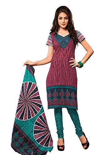 Vaamsi Women's Cotton Dress Material (1022_Red)