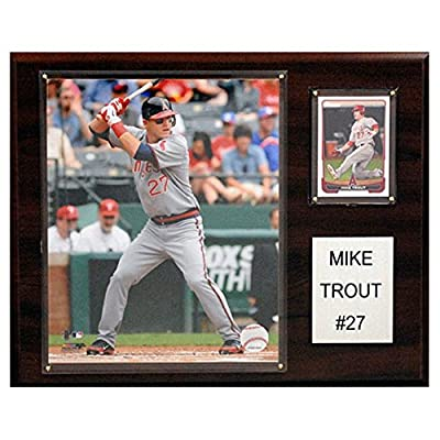 C and I Collectables MLB 15W x 12H in. Mike Trout Los Angeles Angels Player Plaque
