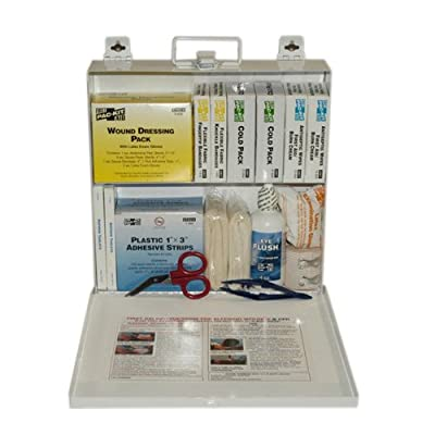 Pac-Kit 6120 165 Piece #50 ANSI Plus Steel Case First Aid Kit with Wall Mount by Acme United