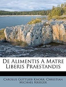 Makeup Brand on De Alimentis A Matre Liberis Praestandis  French Edition   Carolus