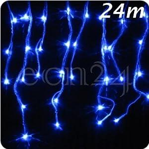 LED Eiszapfen Lichterkette 24m mit Schneefalleffekt blau  BaumarktKundenbewertung und weitere Informationen