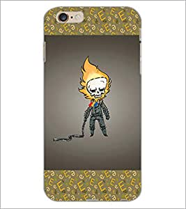 PrintDhaba skull D-4626 Back Case Cover for APPLE IPHONE 6 PLUS (Multi-Coloured)