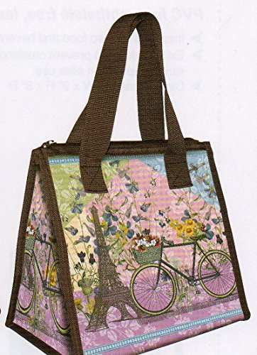 Coelacanth CA-6507 Fabric Zipper Tote, Paris Trip, Mixed - 1