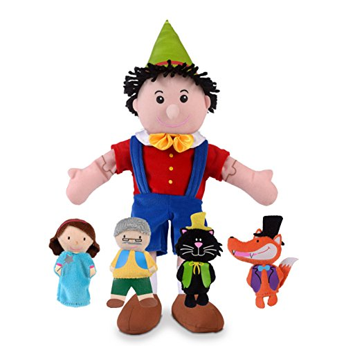 Fiesta Crafts - Juego de marionetas de mano y dedos, razón: Pinocho