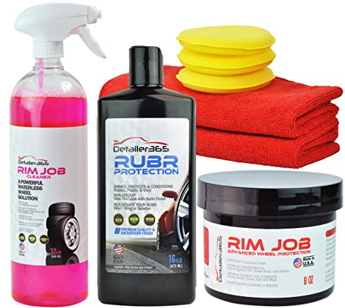 Detailer 365 3Sum Complete Wheel Care Bundle - Clean, Protect, and Refresh (Jet Wet Tire Shine compare prices)