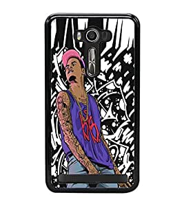 Fuson Premium 2D Back Case Cover DJ With Orange Background Degined For Asus Zenfone Selfie::Asus Zenfone Selfie ZD551KL