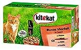 Kitekat Katzenfutter Bunte Vierfalt, 48 Beutel (1 x 48 x 100...