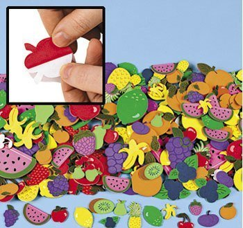 Fruit Shapes Self Stick Foam Shapes 500/pk.