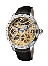 Rougois Skeleton Mechanical Watch with Crystal Embellished Bezel 2270M-S-1