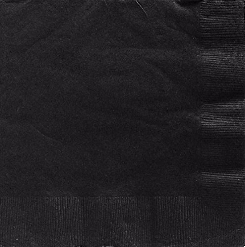 jet black luncheon napkins - 1
