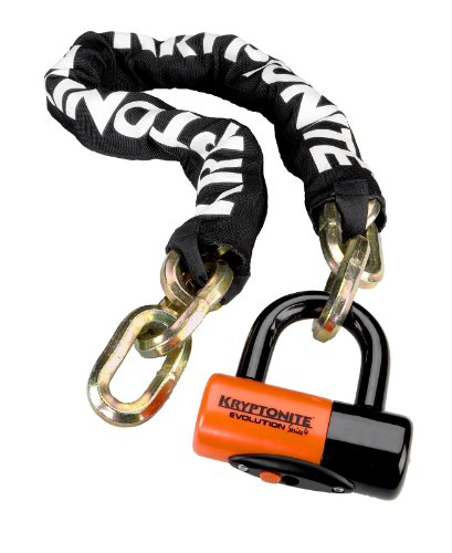 Kryptonite New York 1210 Bicycle Chain Lock and Evolution Series 4 Disc Lock (3-Foot x 3-Inch)