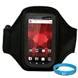 Black Moisture Resistant Neoprene Exercise Workout Armband With Adjustable Velcro Strap For Motorola Droid / Motorola...