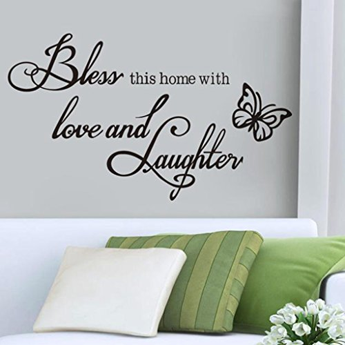 Hatop BLESS Wall Art Removable Home Vinyl Window Wall Stickers Decal Decor (Positive Wall Stickers compare prices)