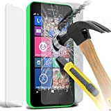 100% Genuine Premium Quality Original Tempered-Glass Screen Protector for Nokia Lumia N635 (0.33mm) Ultra Thin Lightweight Rounded Edge Hardness up to 9H (harder than a knife) - Includes Microfiber Cleaning Cloth