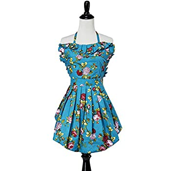 Simply Savvy Co Sweetheart MadeinUSA Double Lined Vintage Retro Apron for Women Red