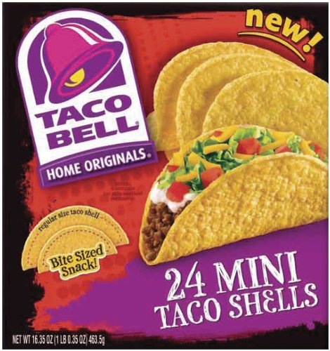 Taco Bell, Mini Shells, 24ct, 6.5oz Box (Pack of 2)
